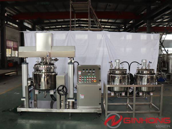 100L Tilting Vacuum Emulsifying Equipment Made for Zimbabwean Customer