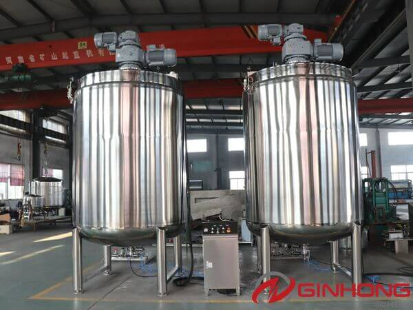 2000 Gallons Bidirectional Mixing Kettle Delivered to America to Make Cream