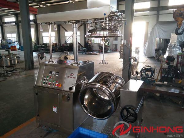 cosmetic emulsifier mixer machine