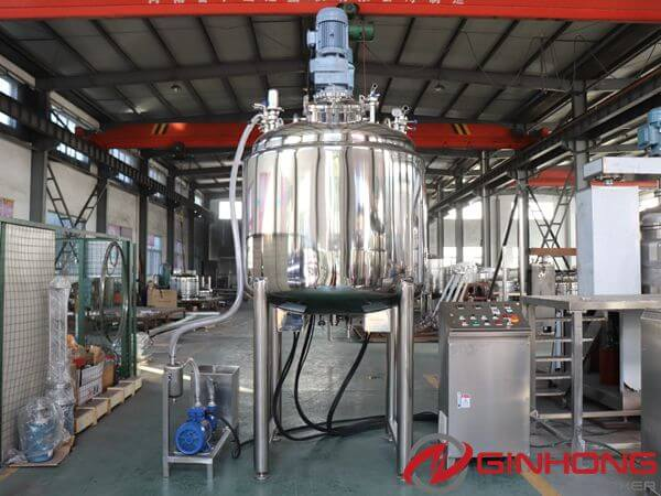 1000L Vacuum Twin Shaft Mixer Delivered to an Indonesian Cosmetic Factory