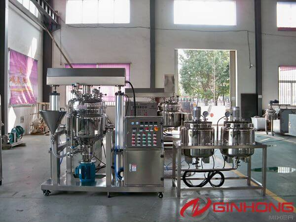American Customers Visit Ginhong and See RX-100L Simplified Vacuum Homogenization Mixing Machine