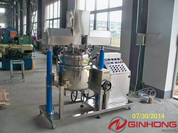 100L simplified vacuum emulsifying mixer