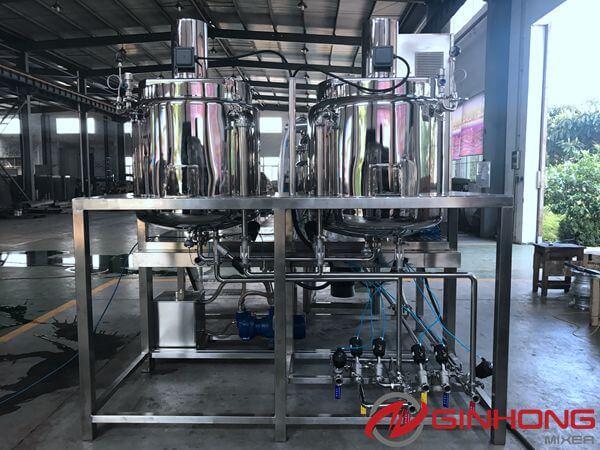400L vacuum homogenizer mixer