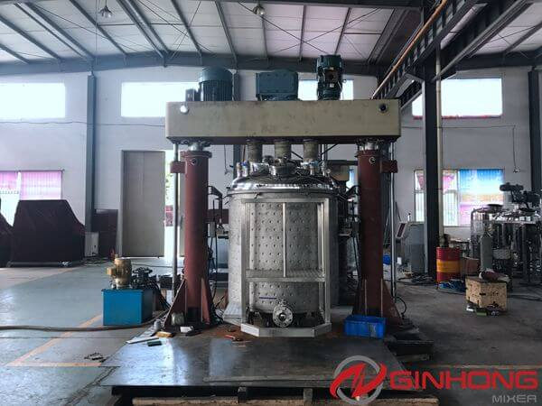 American Customer Inspected 500 Gallon Triple Shaft Mixer in Ginhong