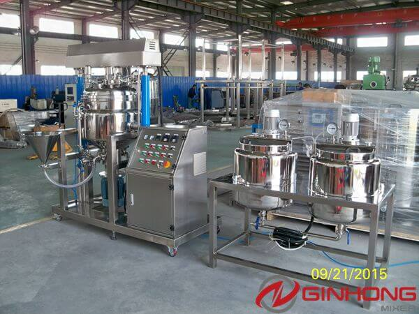 Chile Customer Bought RX-100L Vacuum Homogenizing Mixer for Making Mayonnaise