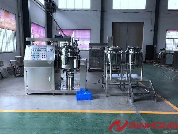 Ginhong Delivered 200 liters Vacuum Homogenizer Blender to a Cosmetic Factory in UAE