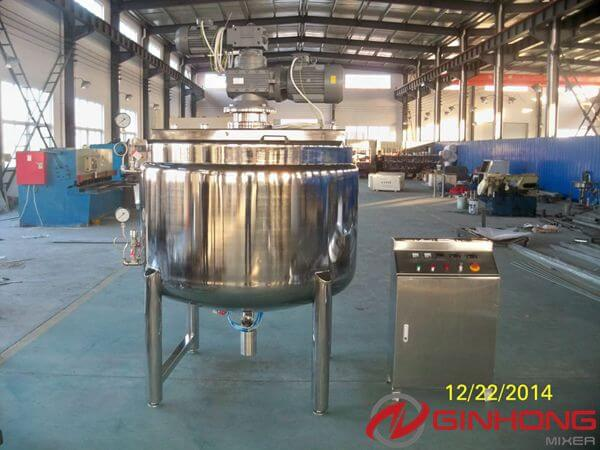 Ginhong Finished a 1000L Steam Jacketed Cooker for a Food Company in New Zealand