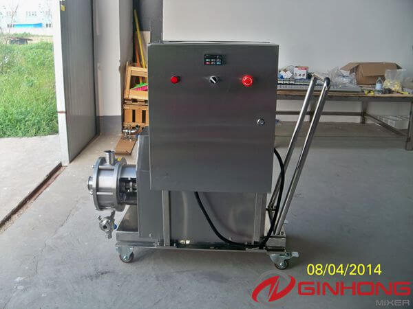Ginhong Finished one 15kw High Shear Inline Mixer for Making Shampoo
