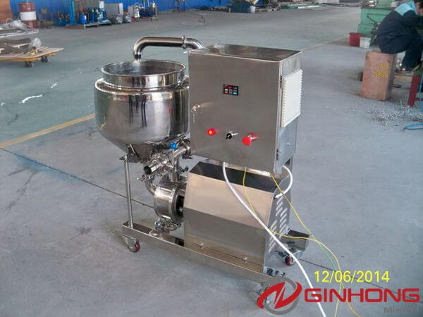 Ginhong Tested 10hp Inline High Shear Mixer for Romanian Customer
