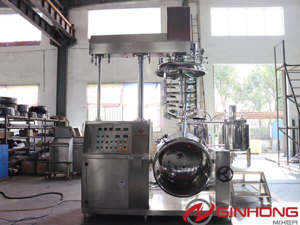 Indonesian Customers Visited Ginhong for Vacuum Emulsification Blender