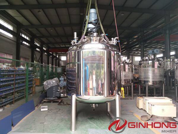 LZ-2000 Vacuum Double Shaft Mixer for American Customer to Make Food