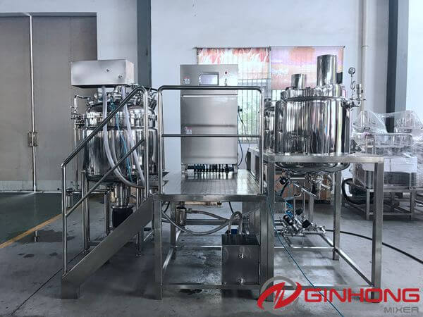 Pharmaceutical Cream Production and Discharging by Vacuum Homogenizer Mixer