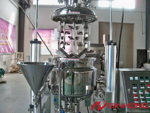 RX-100 simplified vacuum homogenizing mixer for making mayonnaise