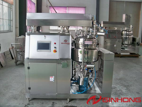 RX-50L Vacuum Mixer Homogenizer With Siemens PLC and HMI Sent to a Pharmaceuticals Factory in Nantong