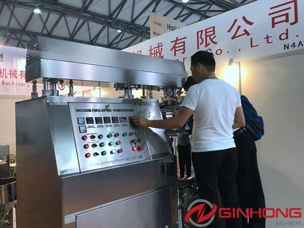 RX vacuum homogenizer mixer in P-MEC China 2017
