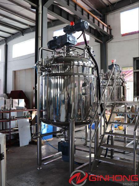 vacuum homogenization mixer
