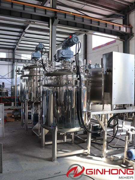 vacuum homogenizer mixer without hydraulics