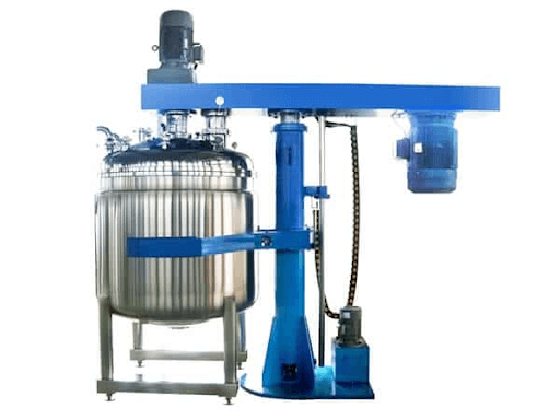 vacuum dual shaft mixer with hydraulic